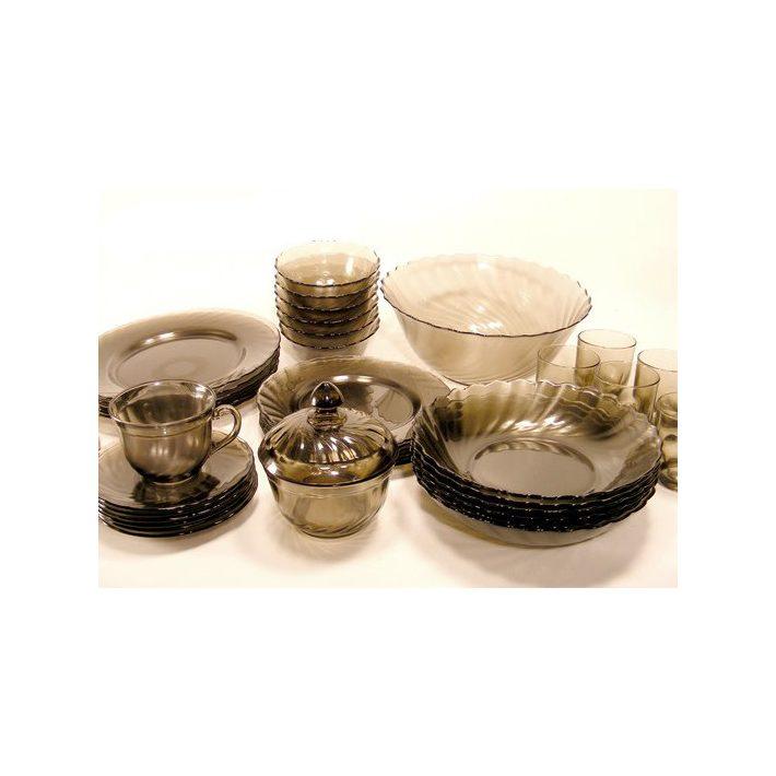 Cleos átlátszó étkészlet  tányérkészlet 19 részes