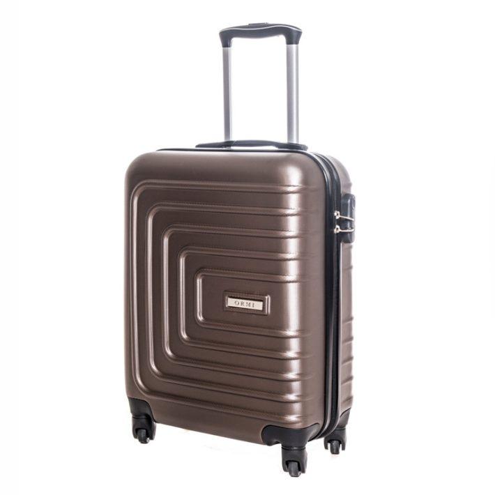 Dorsten keményfedelű bőrönd barna színben