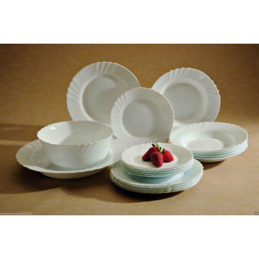 Hó-fehér étkészlet well tányérkészlet 19 részes