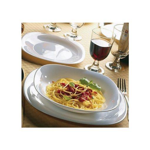 Fehér étkészlet Tone tányérkészlet 18 részes