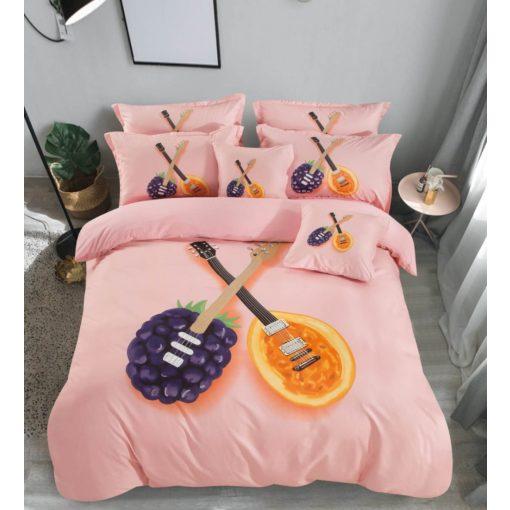 Bice Rózsaszín Pamut Ágyneműhuzat garnitúra  3 részes