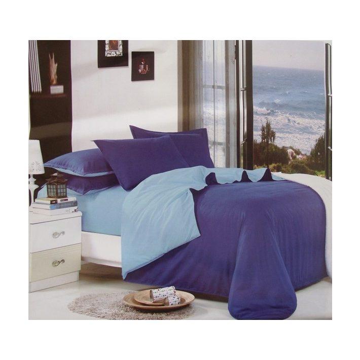 Lilkó pamut aczél kék ágyneműhuzat garnitúra 6 részes