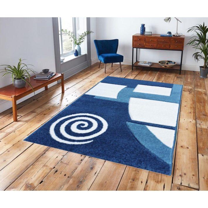 Málta Nyírt Kék szőnyeg