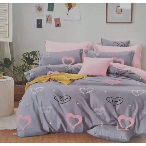 Felícia fekete fehér bézs ágyneműhuzat pamut 7 részes