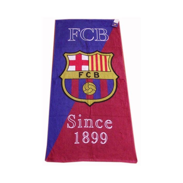 Xavi Barcelona címeres Piros Törölköző