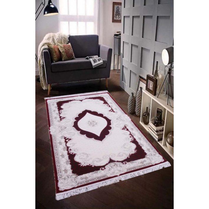 Antium prémium vastag bordó szőnyeg