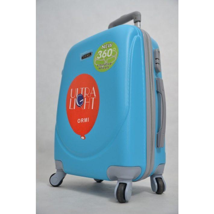 Amberg pasztell kék kabin bőrönd