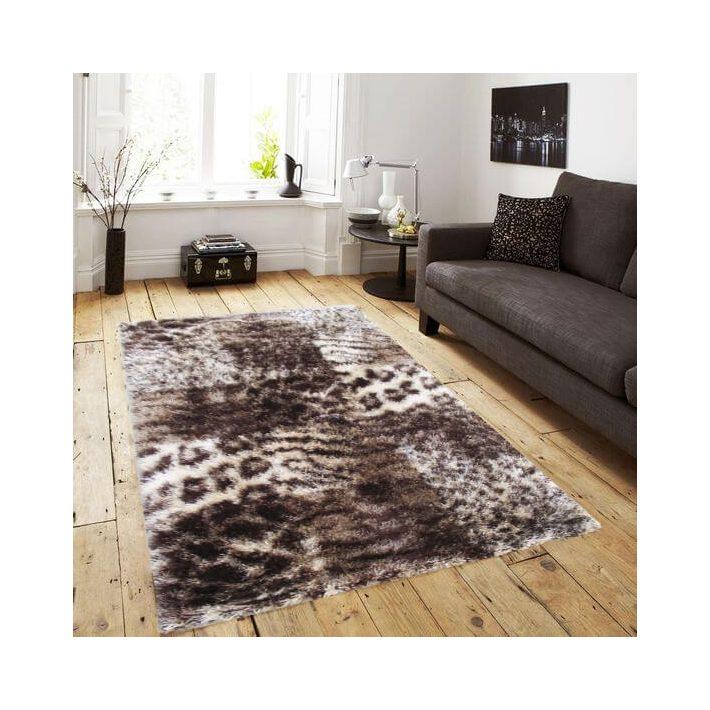 Varenna leopárd barna shaggy szőnyeg