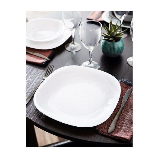 Fehér étkészlet Blanc tányérkészlet 19 részes