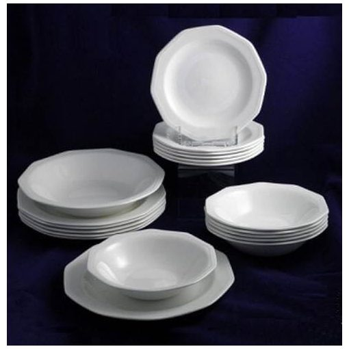 Elegáns krém Kerámia étkészlet Hermoso tányérkészlet 19 részes