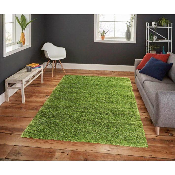 Bertold vastag zöld Shaggy szőnyeg 160 x 220 cm