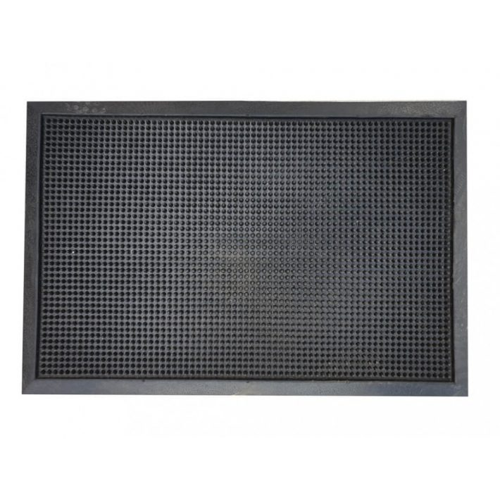 Süni fekete gumi lábtörlő 40x60cm
