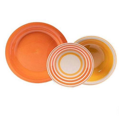 Narancs Étkészlet Tavaszka Tányérkészlet kerámia 18 részes