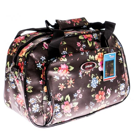 Husum barna piros-kék virágos fedélzeti táska