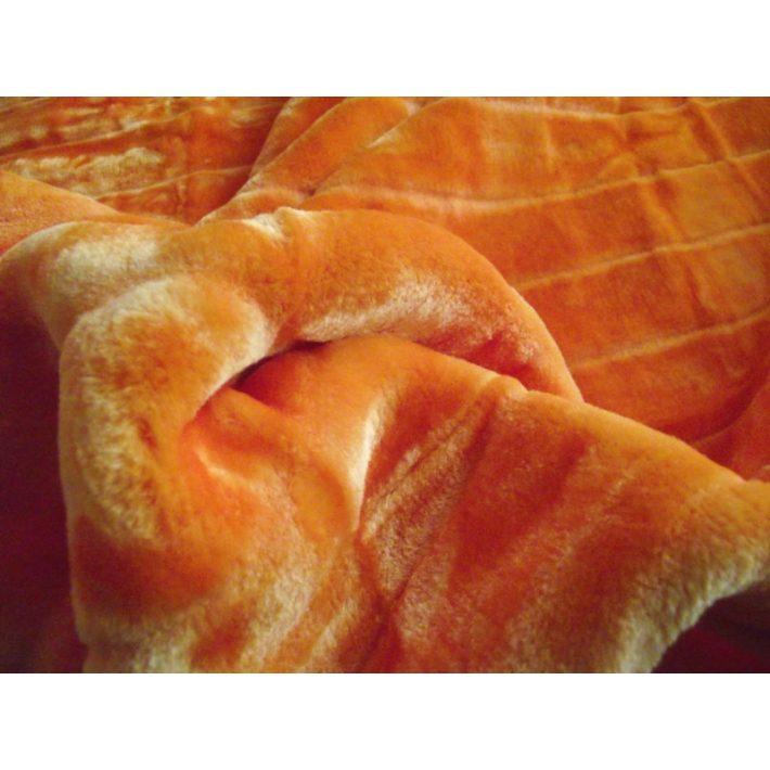 Narancsos narancs extra vastag pléd