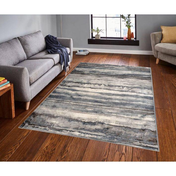 Allande modern bézs kék szőnyeg