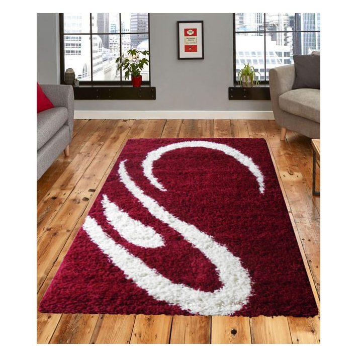 Santorini Meggy Piros Fehér Shaggy szőnyeg