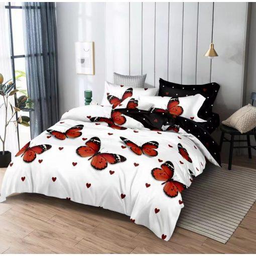Lamur pöttyös ágyneműhuzat garnitúra rózsaszín fehér 3 részes