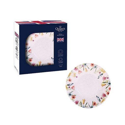 Churchill virágos porcelán tányérkészlet 18 részes