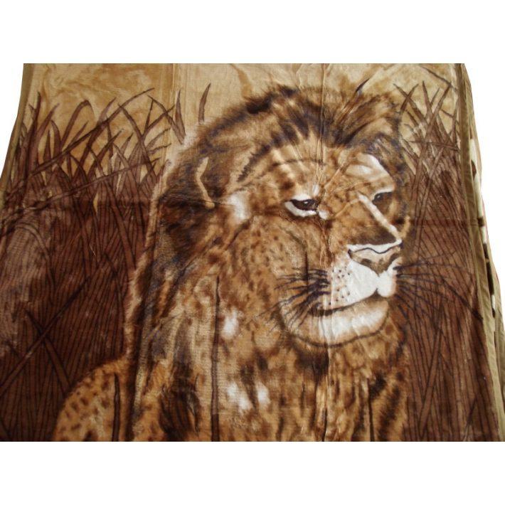 Cimba Oroszlán barna pléd ágytakaró 150 x 200 cm