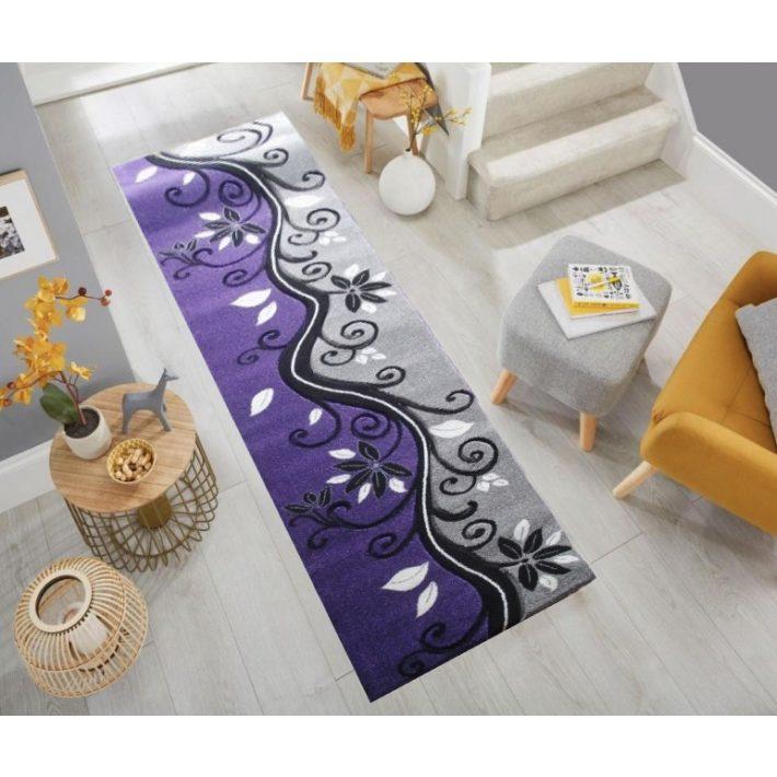 Jázmin Lila Nyírt futószőnyeg 80 x 300 cm