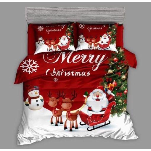 Arno virágmintás szürke pamut ágyneműhuzat 7 részes