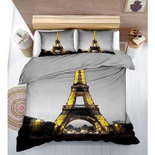 3D Párizs Eiffel Torony Pamut Ágynemű 7 részes