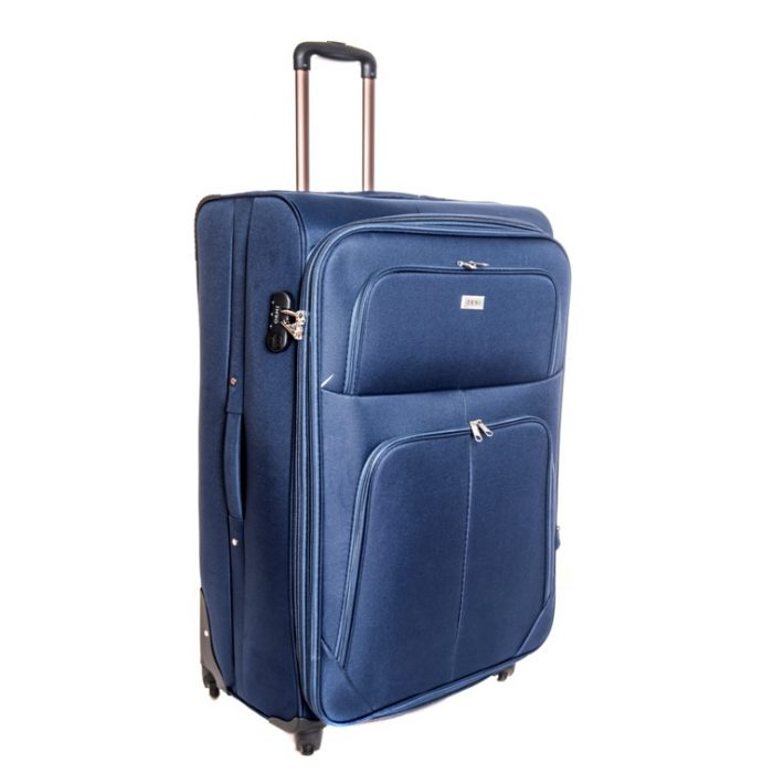 Bassum szignál kék puhafalú kabin bőrönd