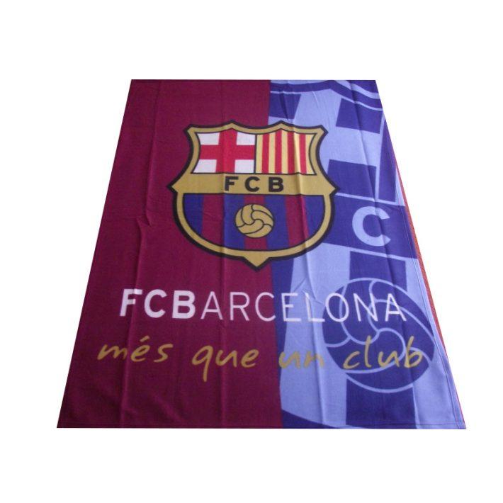 Barcelona Kék Piros Polár Pléd, Ágytakaró 120 x 150 cm