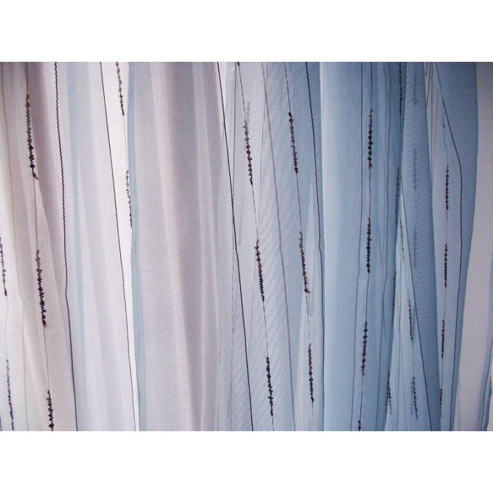 Inéz Kék Csíkos Organza függöny 250 x 250 cm