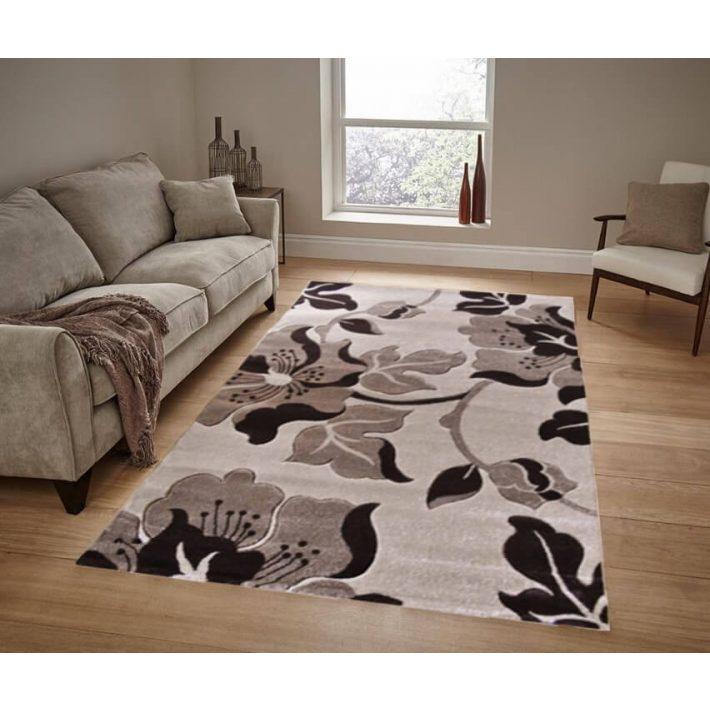 Blanka Bézs Barna Nyírt szőnyeg 150 x 230 cm
