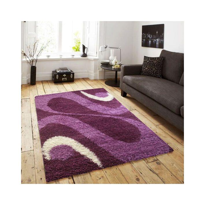 Milva Shaggy Lila Krém szőnyeg