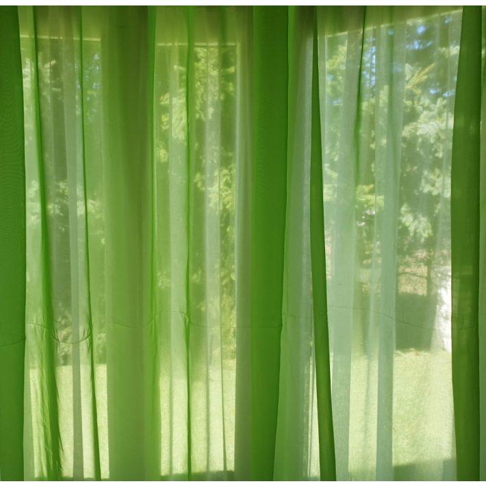 Elsa Zöld  Organza függöny 250 x 300 cm