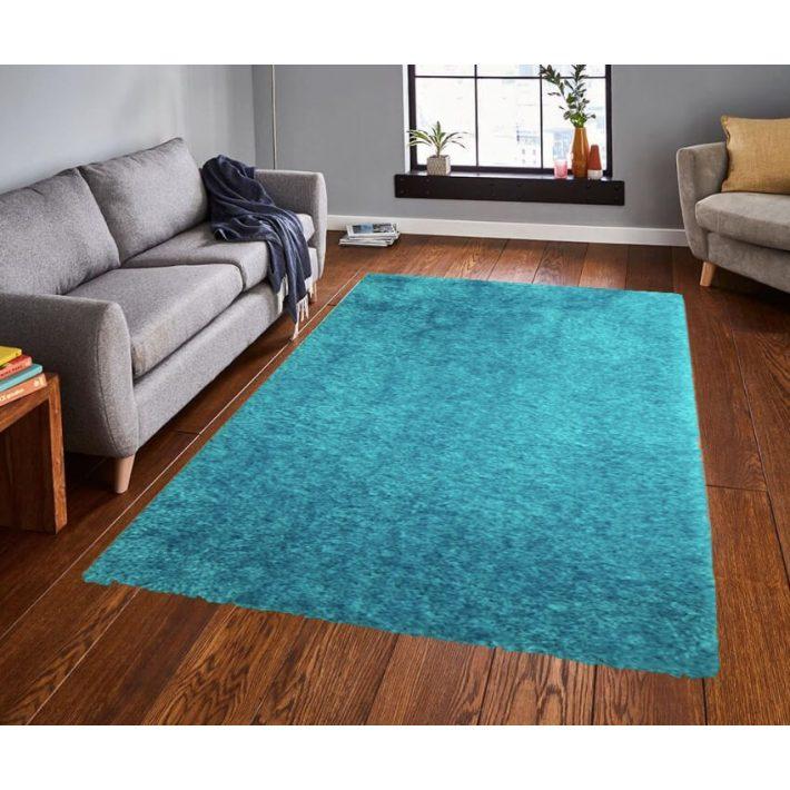 Vouge Shaggy Tűrkíz Kék szőnyeg 80 x 150 cm