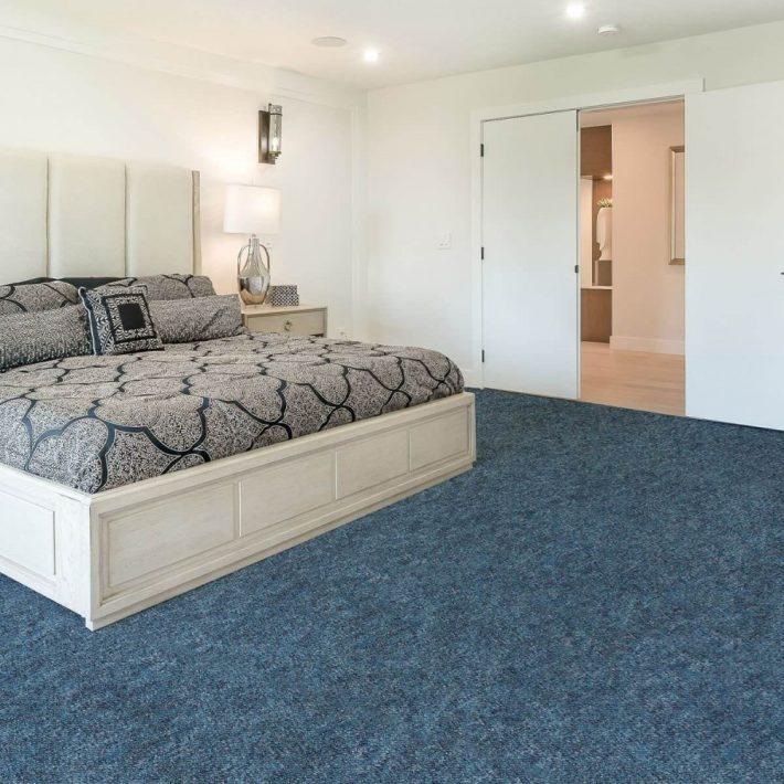 Aramis Kék Nyírt padlószőnyeg 4 m széles
