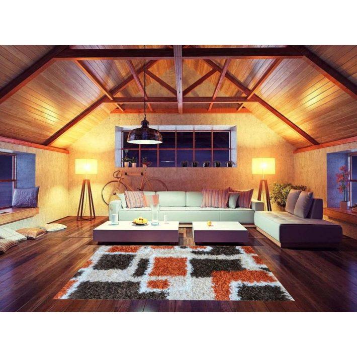 Manarola ovális arany-krém shaggy szőnyeg