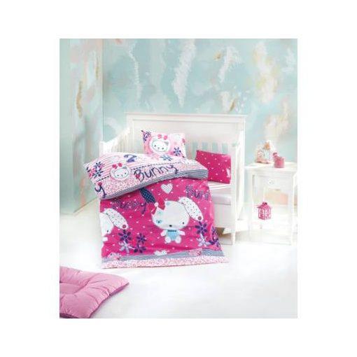 Nyuszi-Muszi rózsaszín gyerekágynemű 100% Pamut 2 részes