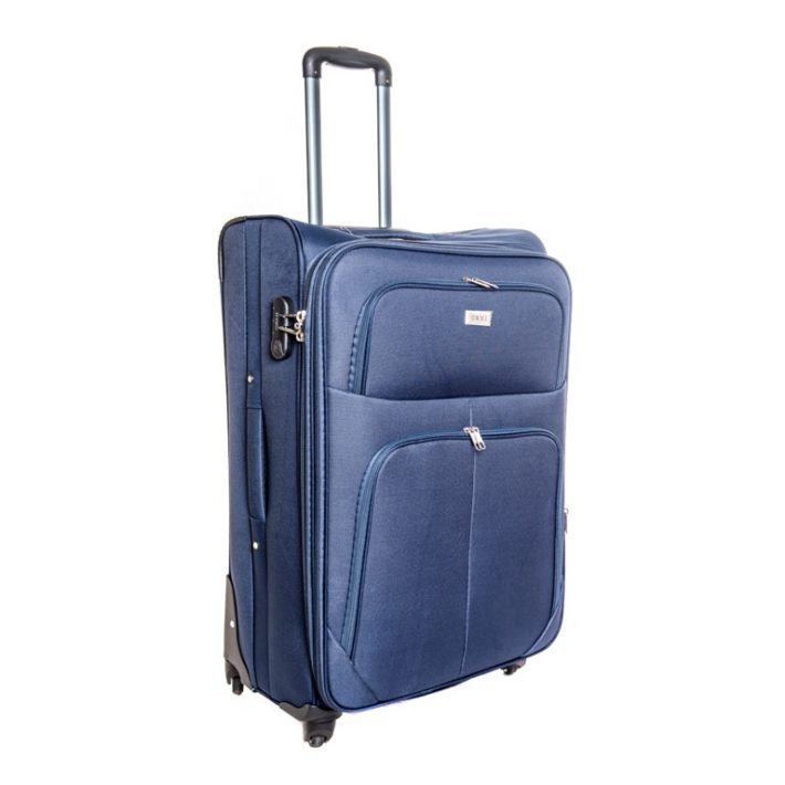 Frankfurt puhafalú bőrönd szignálkék