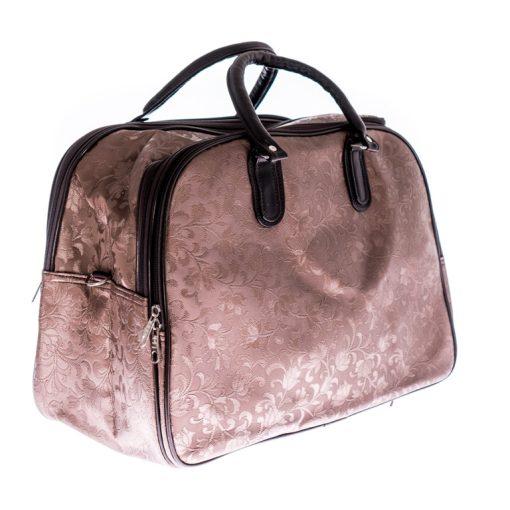 Guben barna virágos fedélzeti táska WizzAir méret