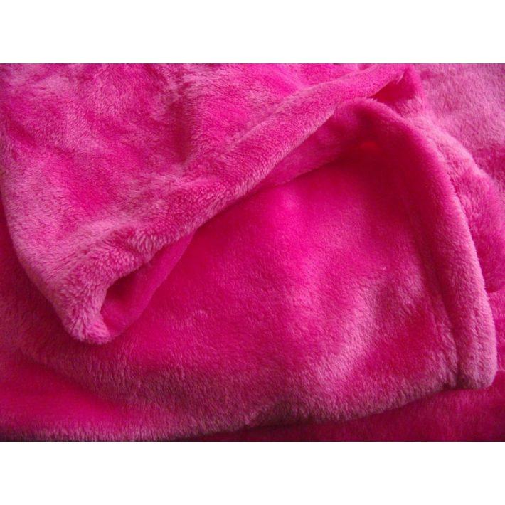 Tímea Pink Rózsaszín Plüss Mikroszálas Takaró