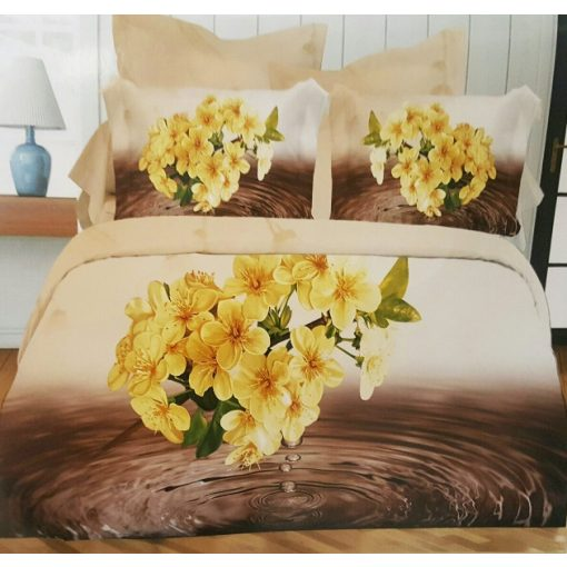 Virág Valentin napi ágynemű garnitúra 7 részes