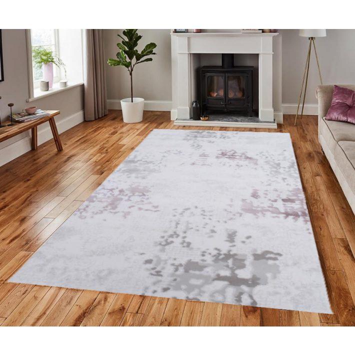 Belucci modern rózsaszín-krém szőnyeg