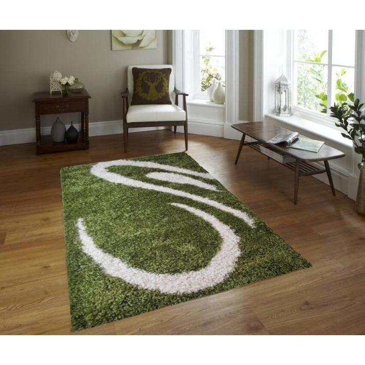 Joy Shaggy Zöld Fehér szőnyeg