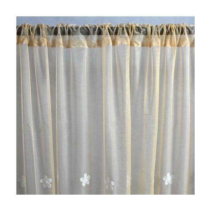 Csepke Zöld Organza Függöny 250 x 300 cm
