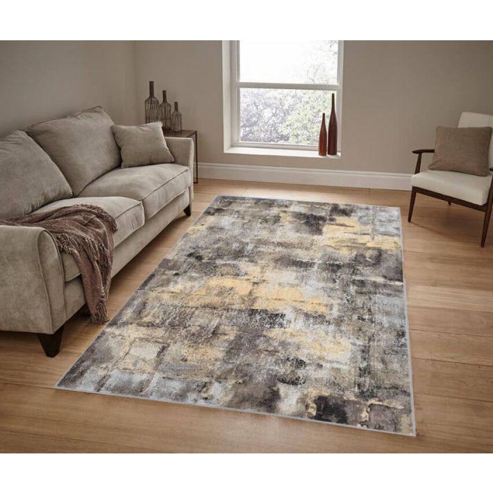 Berja prémium modern szürke sárga bézs szőnyeg