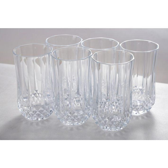 Üditős csiszolt kristály pohár 6 db-os készlet