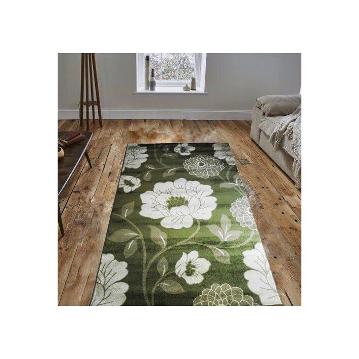 Lizi Nyírt Zöld Virágos szőnyeg