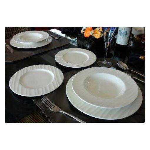 Whize fehér kerámia étkészlet 18 részes