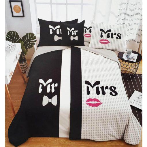 Melitta Romantikus Pamut Ágyneműhuzat Garnitúra 6 részes Mr & Mrs