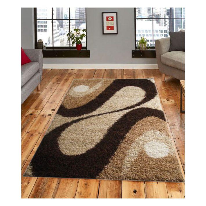 Rick Bézs Barna Nyírt Szőnyeg 200 x 300 cm